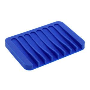Porte-savon coloré en silicone Bleu 01