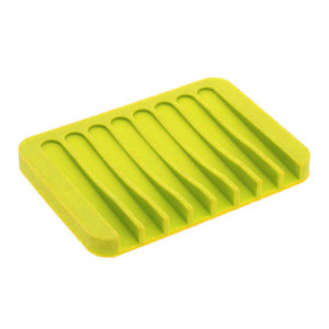 Colorful silicone soap dish | Yellow