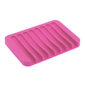Porte-savon coloré en silicone Rose 01