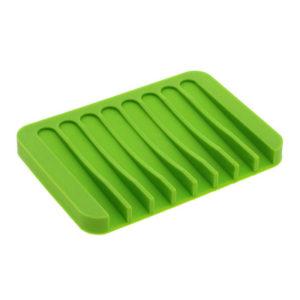 Porte-savon coloré en silicone Vert 01