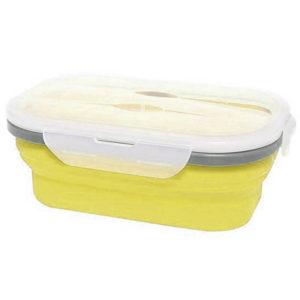 Boîte à repas pliable avec 1 compartiment Jaune 00