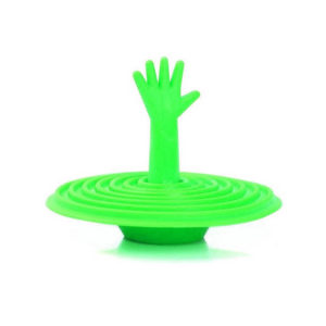 Playful stopper for silicone sink | Green