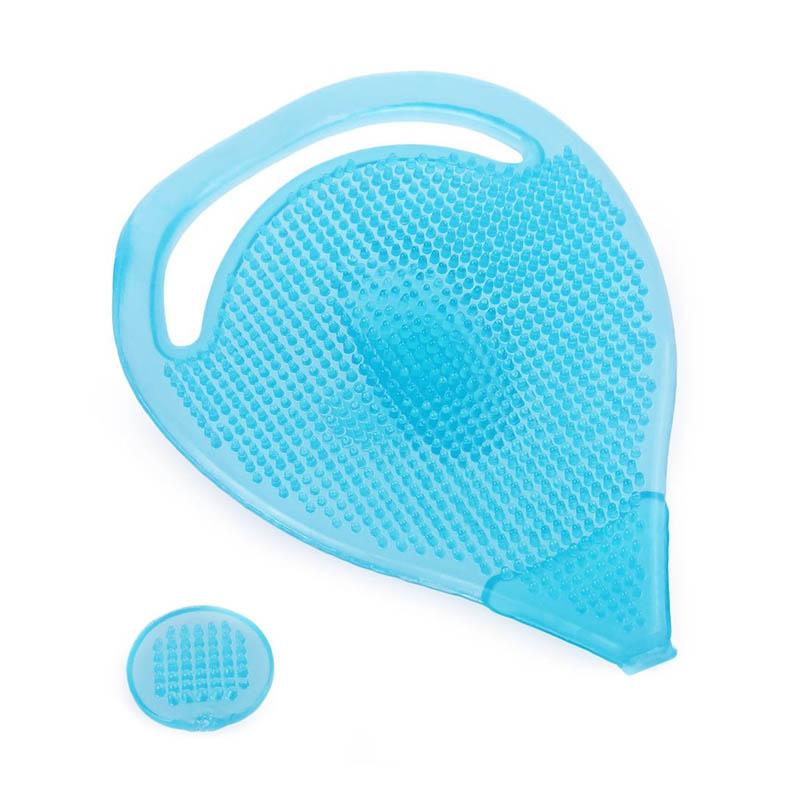 brosse en silicone pour le visage bleu. Black Bedroom Furniture Sets. Home Design Ideas