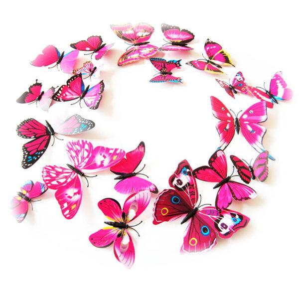 Papillons magiques Rose 01