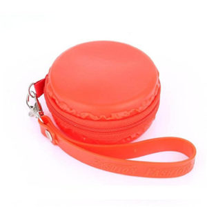 Pochette en silicone Macaron Rouge 01