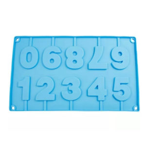 Moule de chiffres en chocolat Bleu 01
