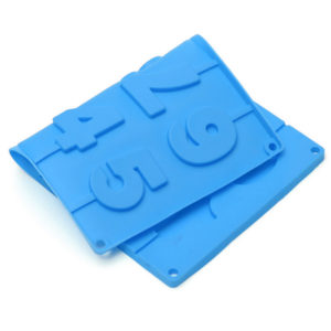 Mold of chocolate figures | Blue