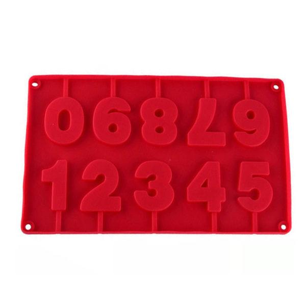 Moule de chiffres en chocolat Rouge 01