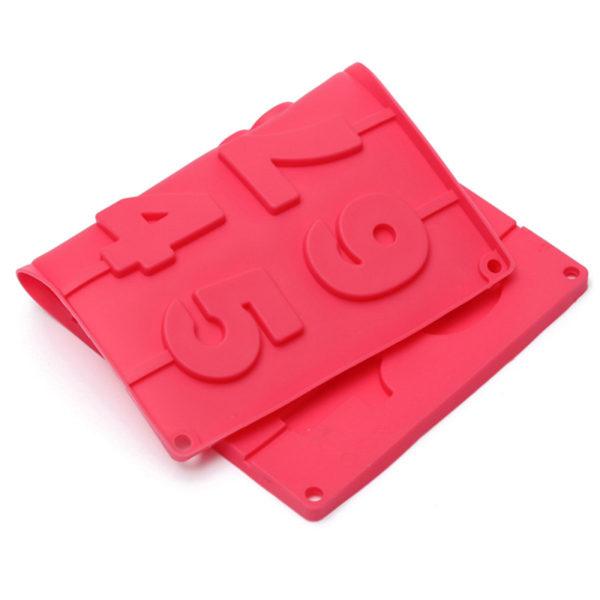 Moule de chiffres en chocolat Rouge 02