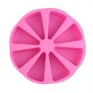 Moule en silicone de parts de gateau Rose 01