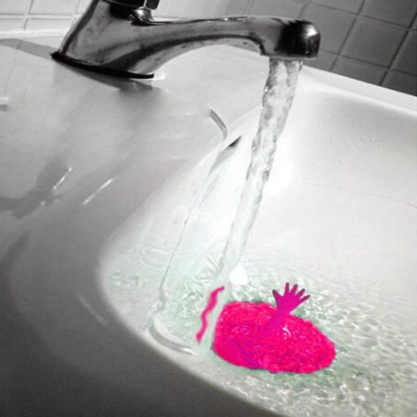 Playful stopper for silicone sink | Pink