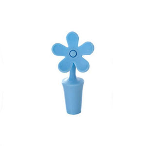 Flower Silicone Stopper | Blue