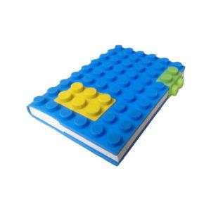 Carnet A6 avec couverture en silicone_Bleu 01