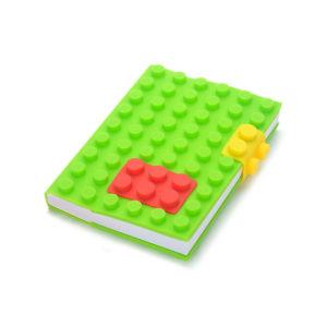 Carnet A6 avec couverture en silicone_Vert 01
