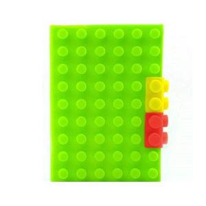 Carnet A6 avec couverture en silicone_Vert 02