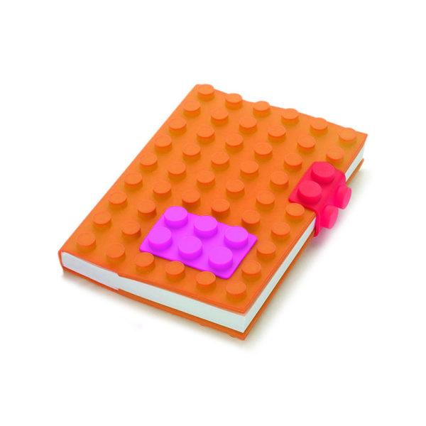 Carnet A6 avec couverture en silicone_orange 01