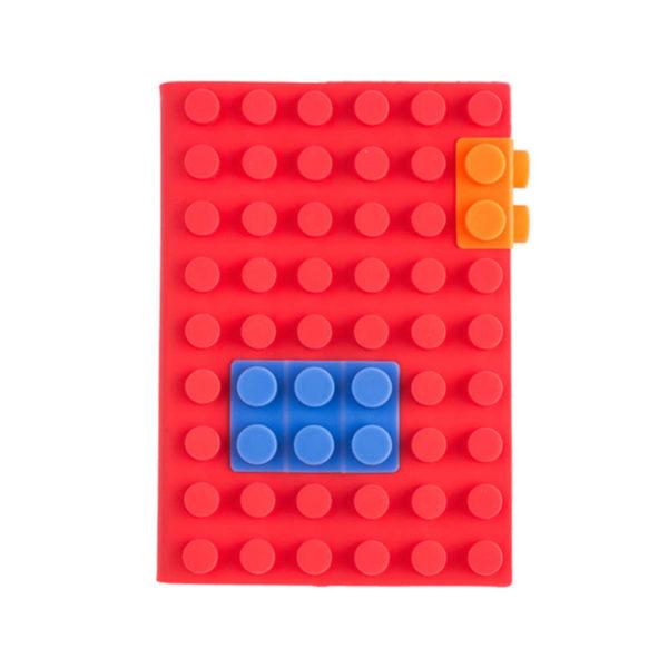 Carnet A6 avec couverture en silicone_rouge 02