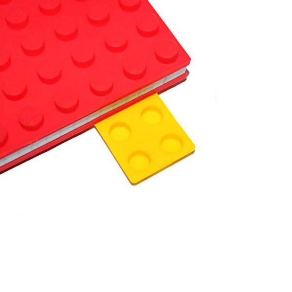 Carnet A6 avec couverture en silicone_rouge 03