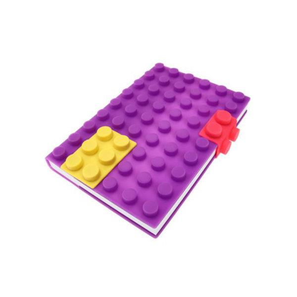 Carnet A6 avec couverture en silicone_violet 01
