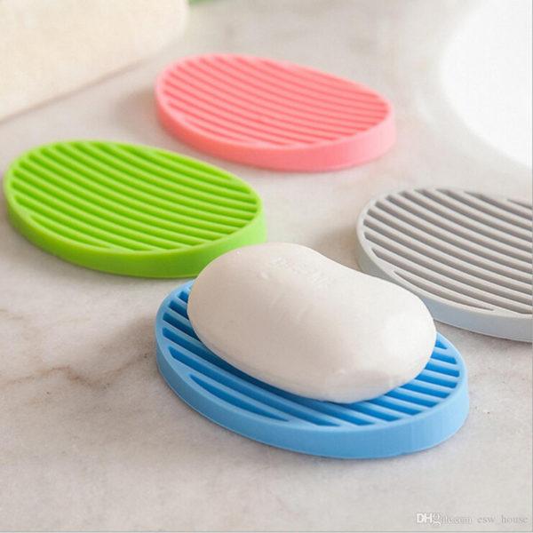 Oval colored soap dish | Blue