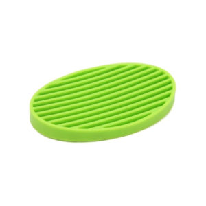 Oval colored soap dish | Green