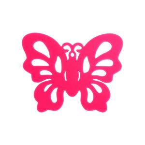 Sous-bock Papillon Rose 01