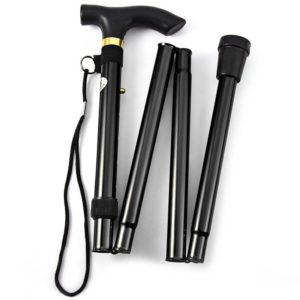 Lightweight foldable walking stick | Black