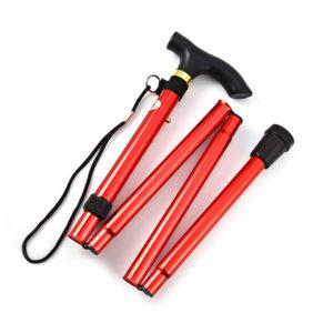 Lightweight foldable walking stick | Red