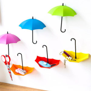 3 Umbrella Hooks | Red Yellow Pink