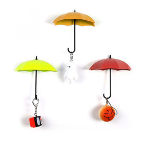 3 Umbrella Hooks | Red Orange Yellow