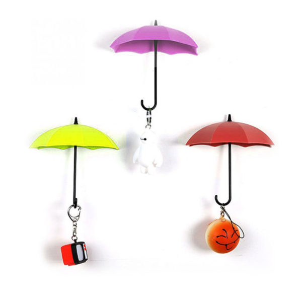 Crochets Parapluie Rouge Rose Jaune 01