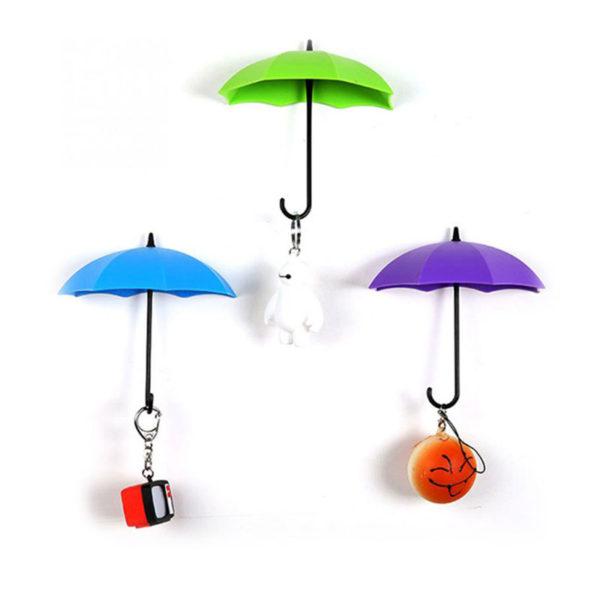 Crochets Parapluie Violet Vert Bleu 01