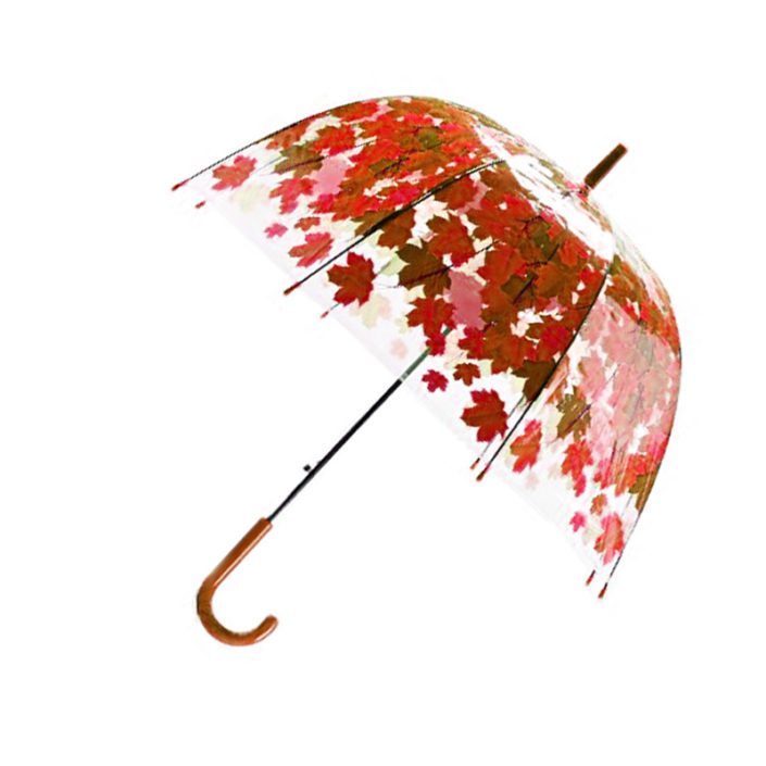Parapluie feuillage Rouge 01