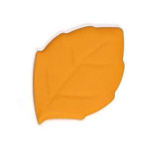Verre pliable en silicone en forme de feuille Orange 01