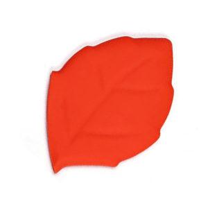 Verre pliable en silicone en forme de feuille Rouge 01