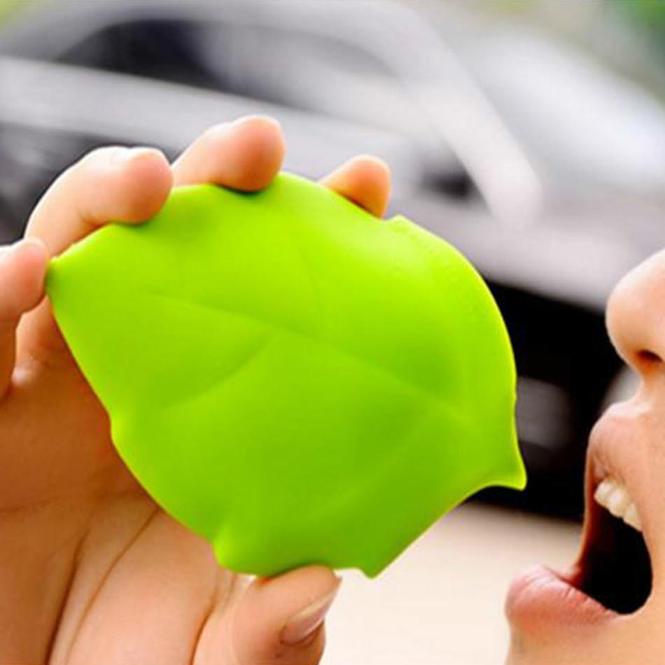 Verre pliable en silicone en forme de feuille Vert 02