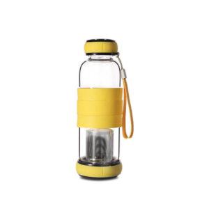 Bouteille Infuseur à thé 420ml Jaune 01