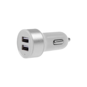 2-Port USB Car Charger | Silver