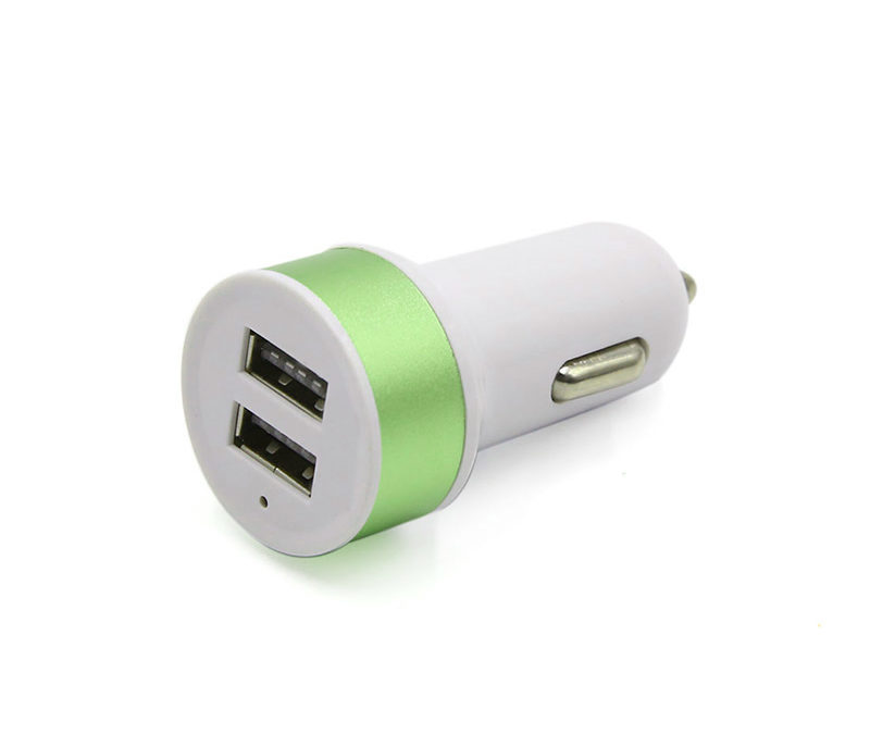 2-Port USB Car Charger | Green