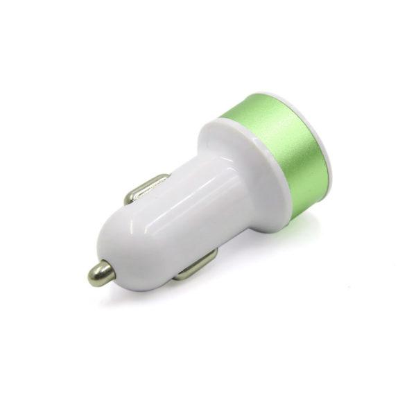 Chargeur de voiture 2 ports USB_Green 02
