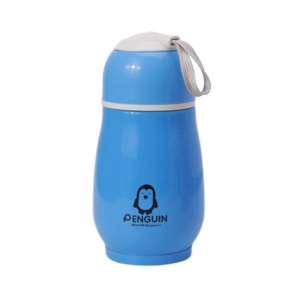 Portable Mini Thermos Playful   Blue