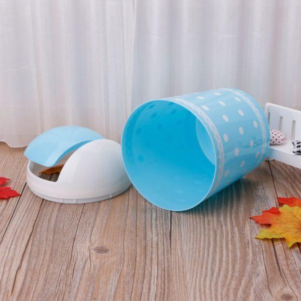 Mini corbeille colorée Bleu 03