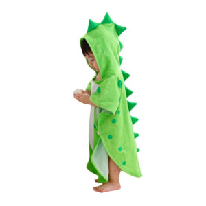 Children's bathrobe Dinosaur | Green