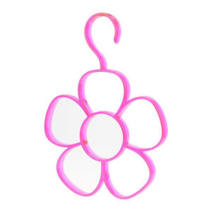 Flower scarf holder | Pink