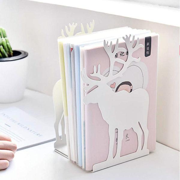 Serre-livres Élan Blanc 03