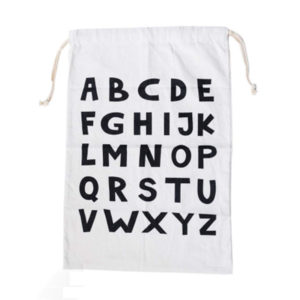 Playful laundry bag | Alphabet