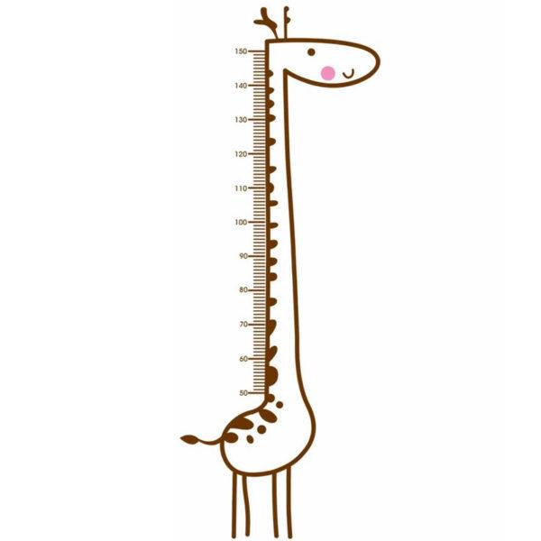 Sticker de mesure de hauteur Girafe 00
