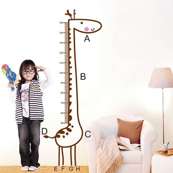 Sticker de mesure de hauteur Girafe 02