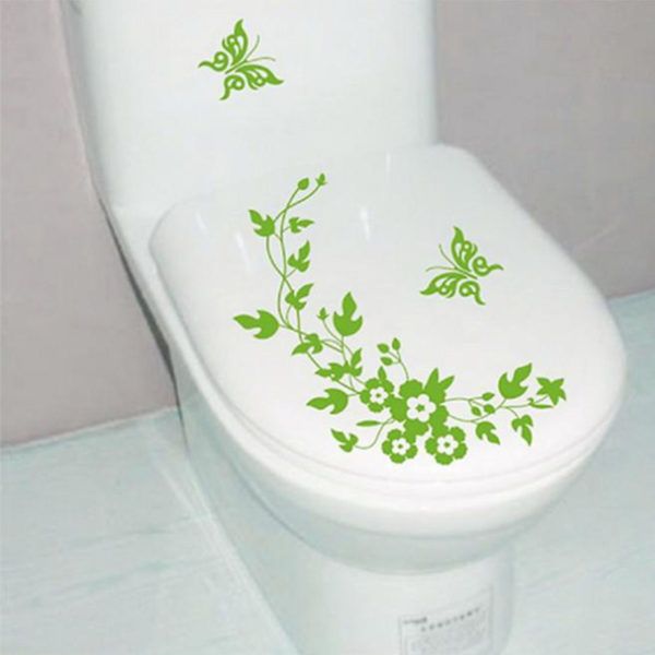 Playful toilet sticker | Blue
