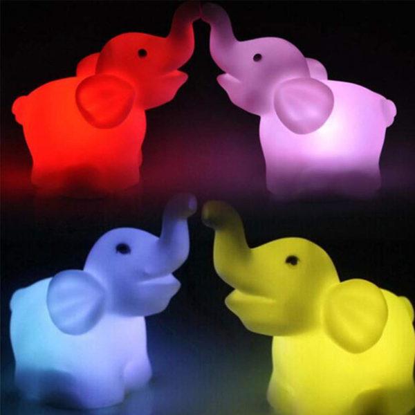 Veilleuse multicolore Éléphant 02